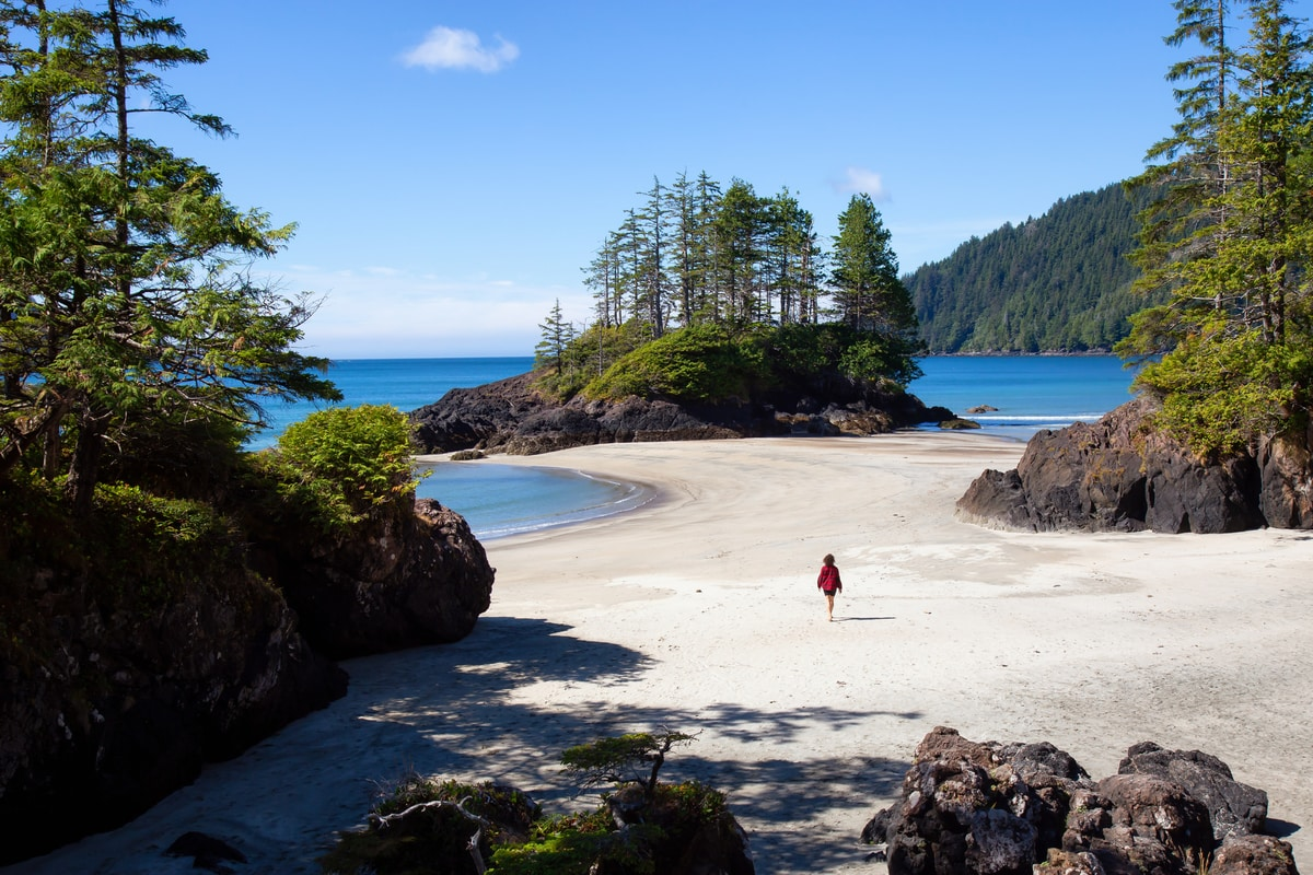 A beach on Vancouver Island