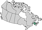 A map of New Brunswick
