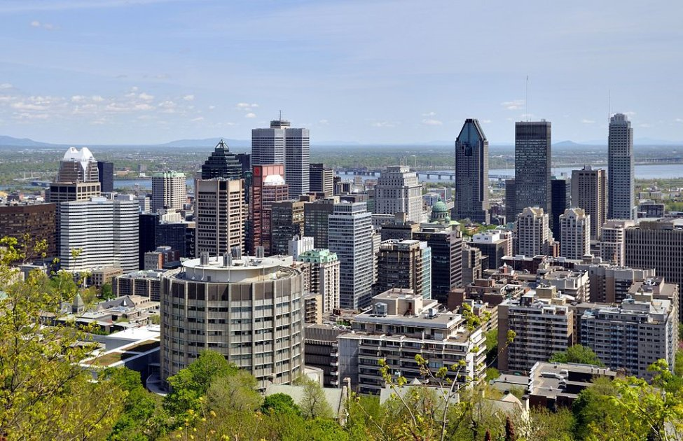 A view of Downtown Montreal in the daytime.