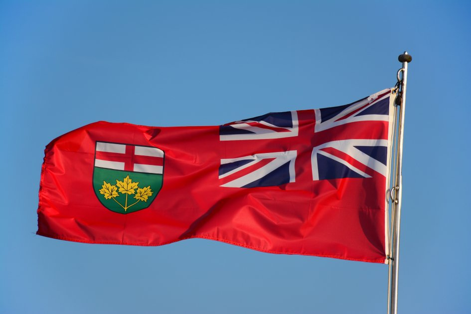 The Ontario flag.