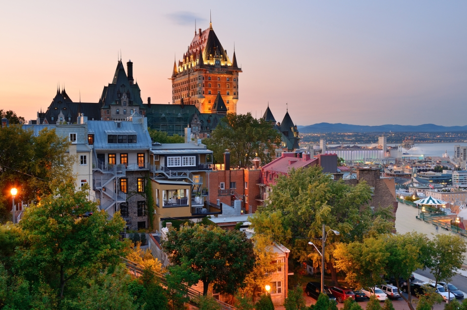 An image of Quebec City in the province of Quebec