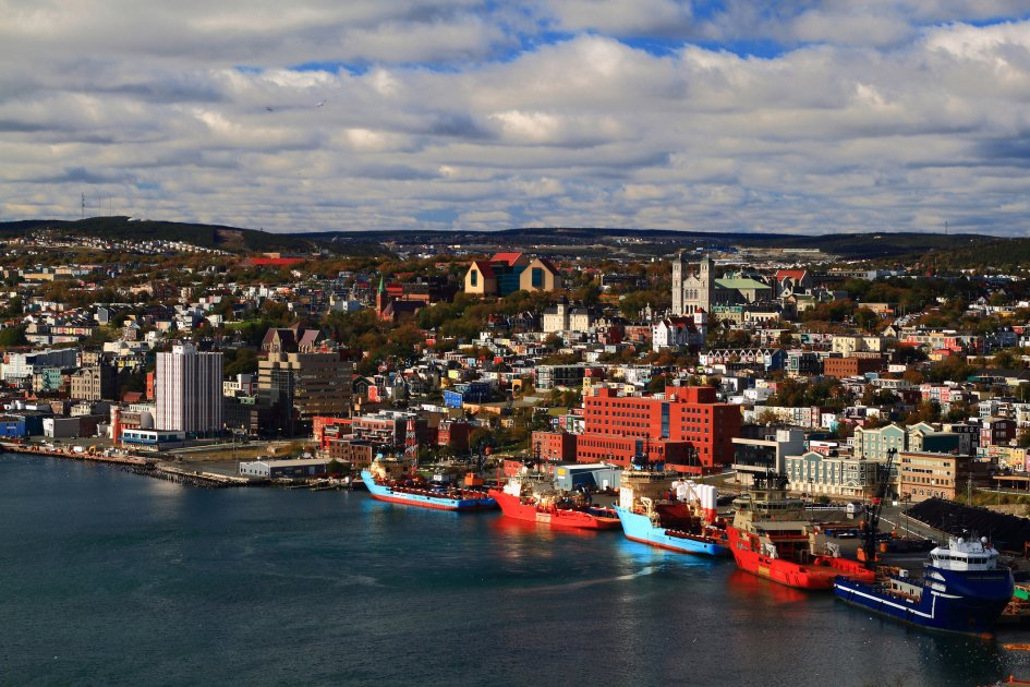 A view of the city of St John's in Newfoundland