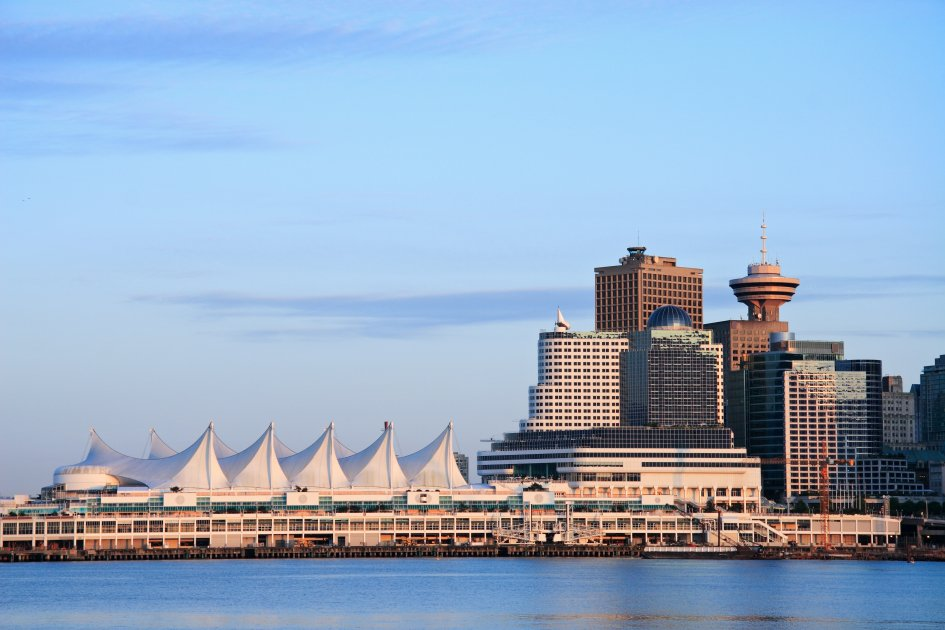 A view of Canada Place from Vancouver Harbour
