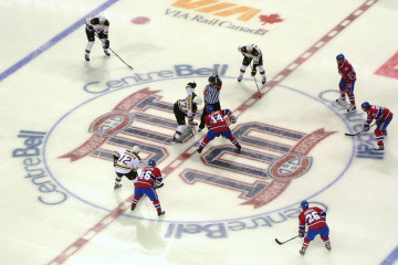 A National Hockey League game in Montreal, Quebec, Canada