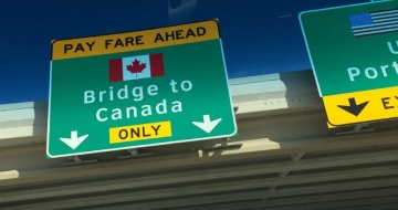 Arriving at the Canadian border