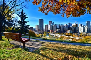 Downtown Calgary on a fall day