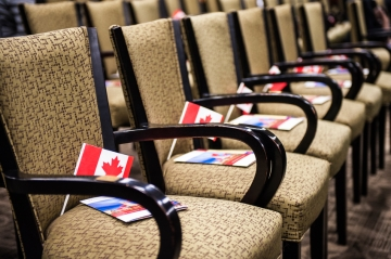 A Canadian citizenship ceremony