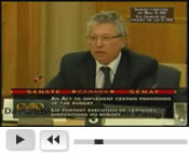 Attorney Cohen speaks before the Canadian Senate