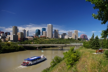 A Landscape Shot Of Edmonton, The Capital City Of Alberta, Canada