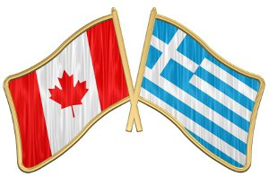 Canadian and Greek Flags