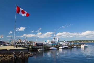The seafront in Halifax, Nova Scotia, Canada