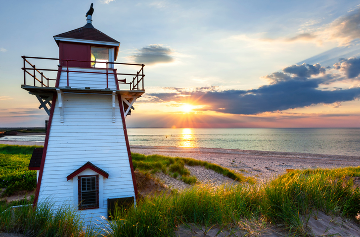 A light house in Prince Edward Island.