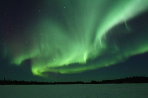 The Northern Lights in the Northwest Territories, Canada