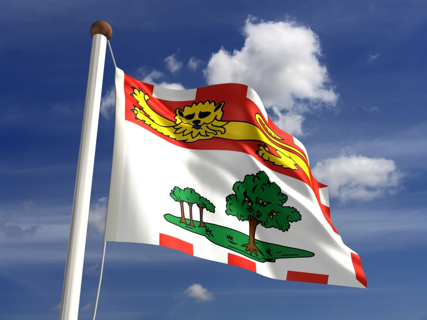 A provincial flag of Prince Edward Island in Canada.