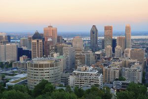 Downtown Montreal as viewed from Mount Royal
