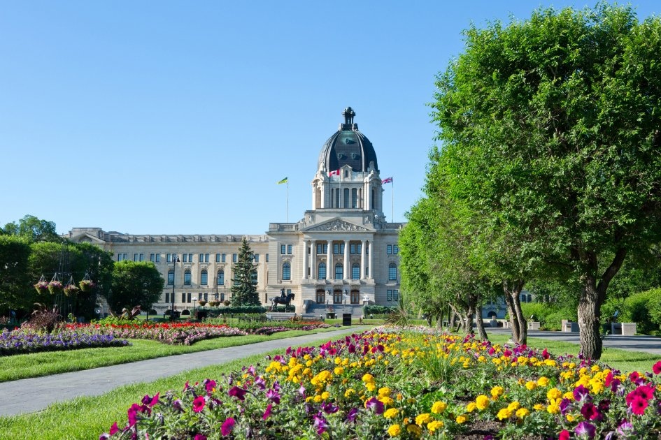 The beautiful city of Regina, Saskatchewan, Canada in the summer.
