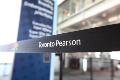Toronto Pearson International Airport in Ontario, Canada