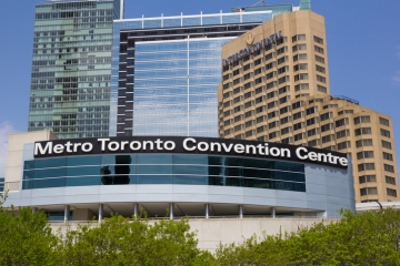 The Metro Toronto Convention Centre in downtown Toronto, Ontario, Canada
