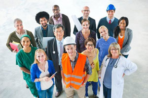 A diverse group of workers to represent Canada's Employer Portal
